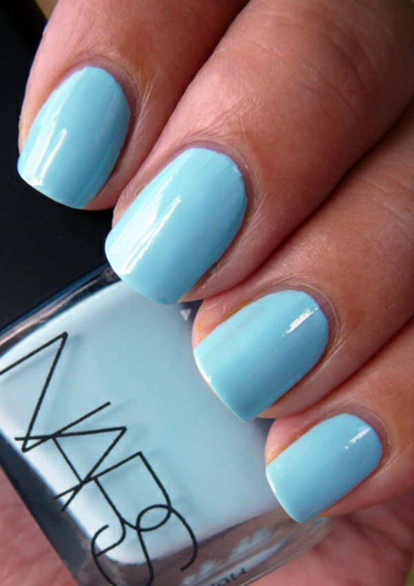 Stunning Light Blue Nails With Straight Design - Stunning Light Blue Nails With Straight Design Picsmine