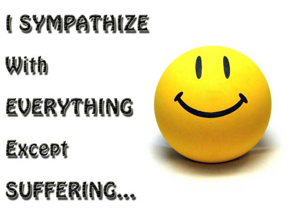 Sympathy Quotes i sympathize with everything except suffering...