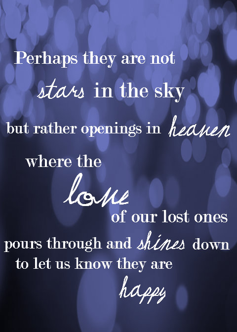 Sympathy Quotes perhaps they are not stars in the sky but rather ...