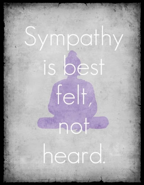 Sympathy Quotes sympathy is best felt, not heard.
