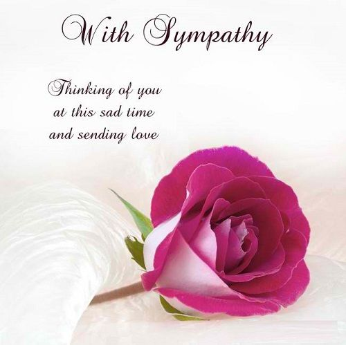 Sympathy Quotes with sympathy thinking of you at this sad time and sending love.
