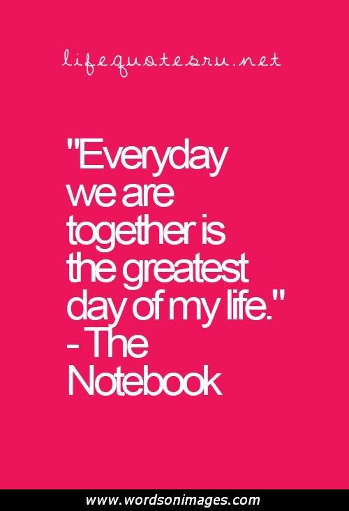Teen Quotes everyday we are together is the greatest day of my life...
