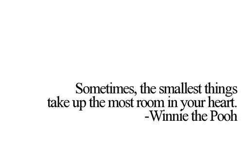 Teen Quotes sometimes, the smallest things take up the most room in your heart
