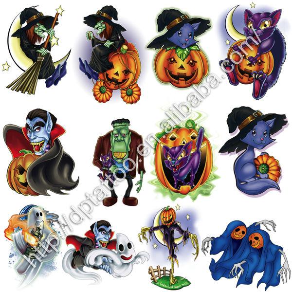 Terrific Few Halloween Tattoo Designs For Boys
