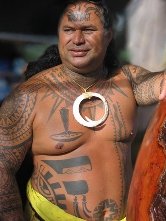 Terrific Full Body Hawaiian Tattoo Designs For Boys