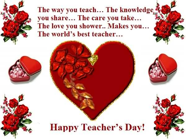 The World's Best Teacher Happy World Teacher's Day Greetings Message Image