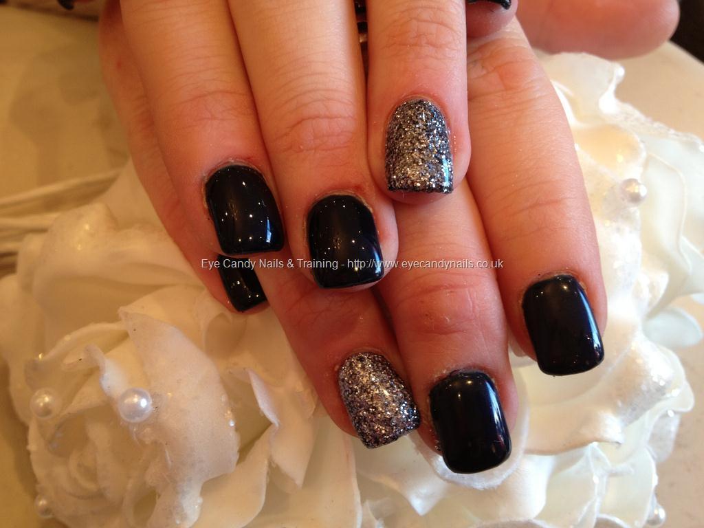 Tremendous Black And Silver Color Black Acrylic Nail Art