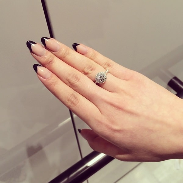 Tremendous Black French Tip Nails With Beautiful Hand