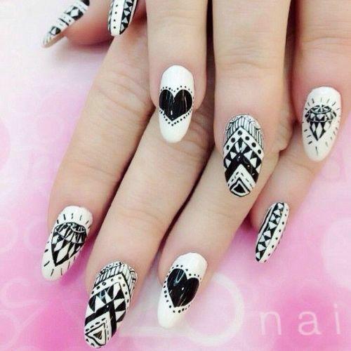 Tremendous Diffrent Design With Black Nail Paint Black Acrylic Nail Art