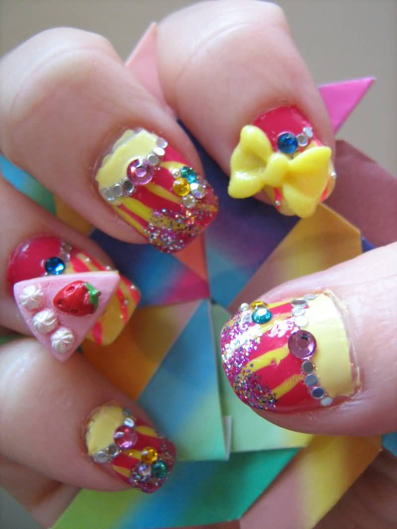 Tremendous Funny Nail Art 3D Nail Art