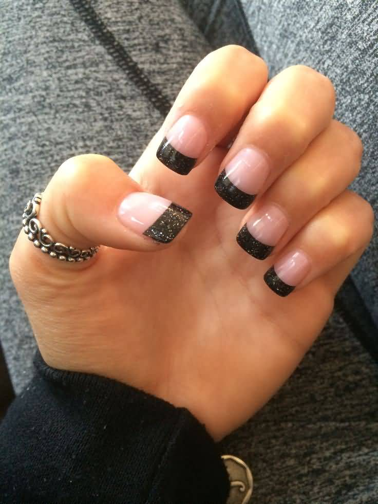 48 Tremendous Black French Tip Nails Art Designs, Styles ...