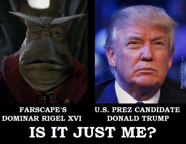 U.S. Prez Candidate Is It Just Me Donald Trump Meme