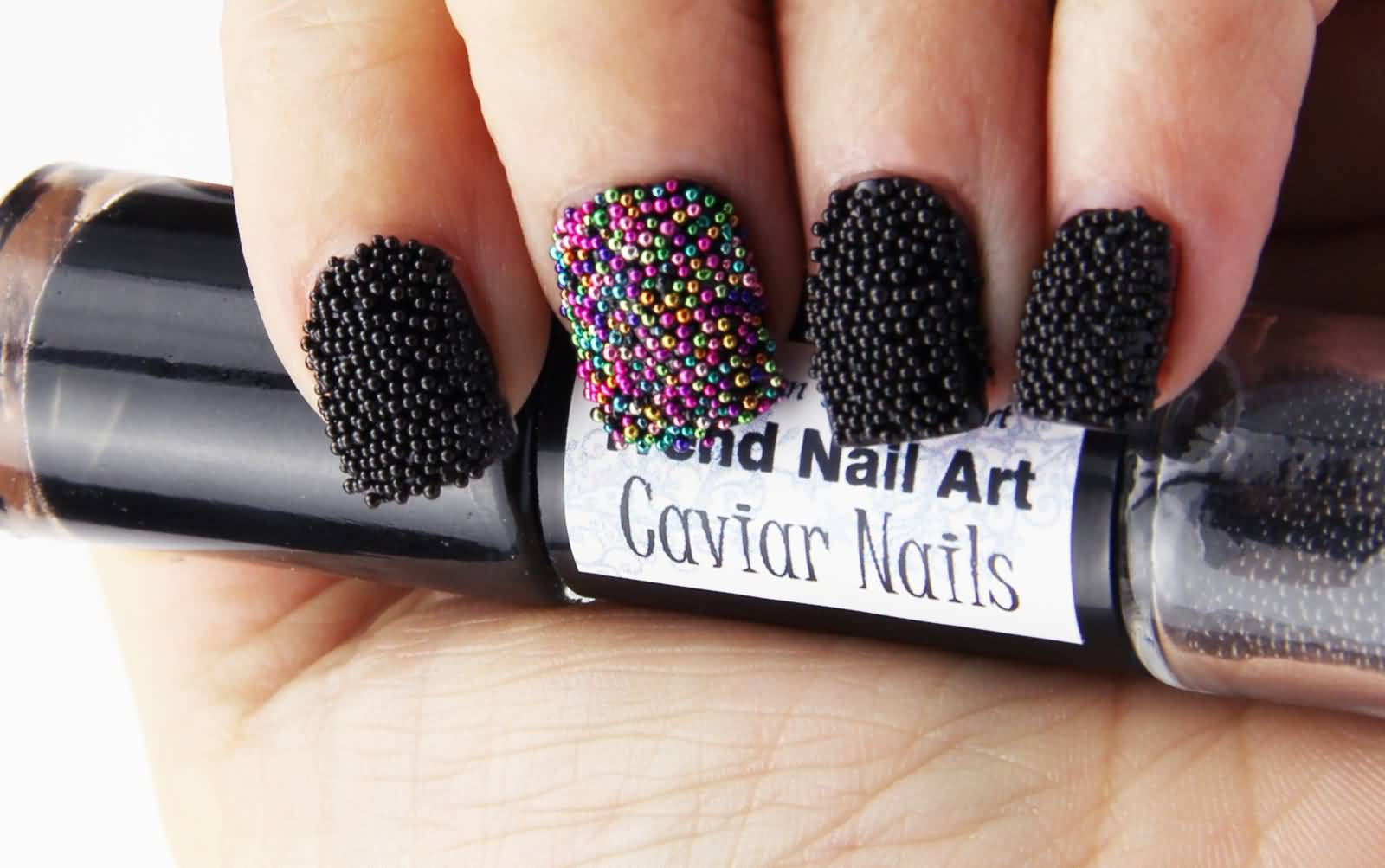 Ultimate 3D Butterflies Nail Art Black Caviar Nails
