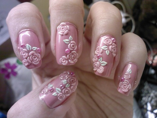 Ultimate rose paint 3d rose flower nail art picsmine ultimate rose paint 3d rose flower nail art prinsesfo Choice Image