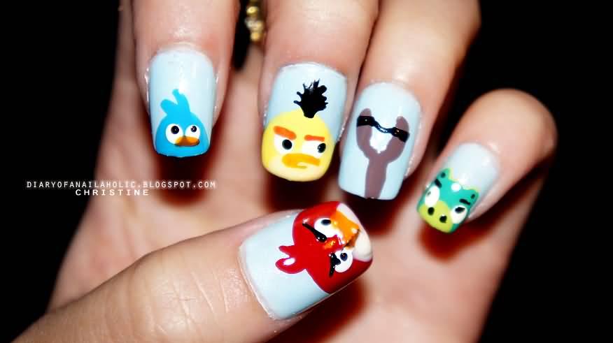 53 Trending Angry Bird Nail Art Design And Styles | Picsmine