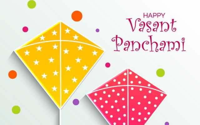 Vasant Panchami Wishes Colorful Kites Wishes To Everyone Image