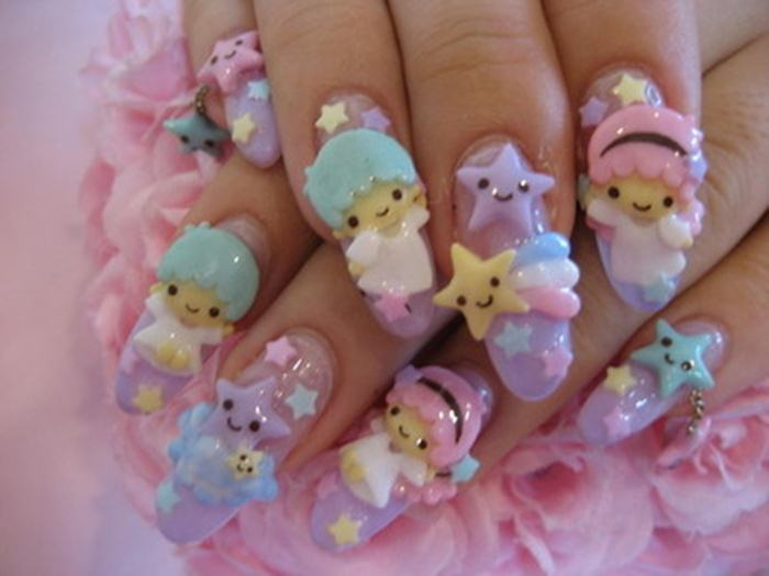 Very cute teddy nail art 3d rose flower nail art picsmine 700 525 in 49 fabulous 3d nails art prinsesfo Image collections