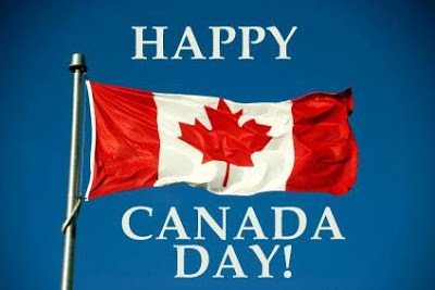Waving Flag Happy Canada Day Image