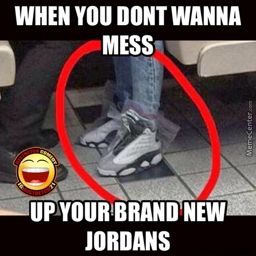 When You don't Wanna Mes Up You Brand New Jordan Meme Graphic