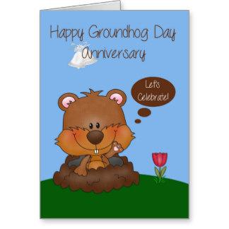 Wish You Happy Groundhog Day Wishes Card Image