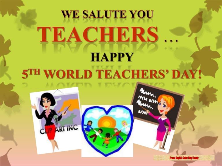 Wish You Happy World Teacher's Day Image