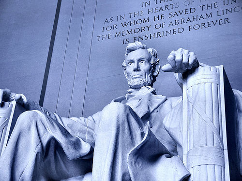 Wishing You National Freedom Day Lincoln Statue