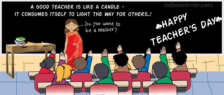 Wishing You Wonderful World Teacher's Day Quotes Image