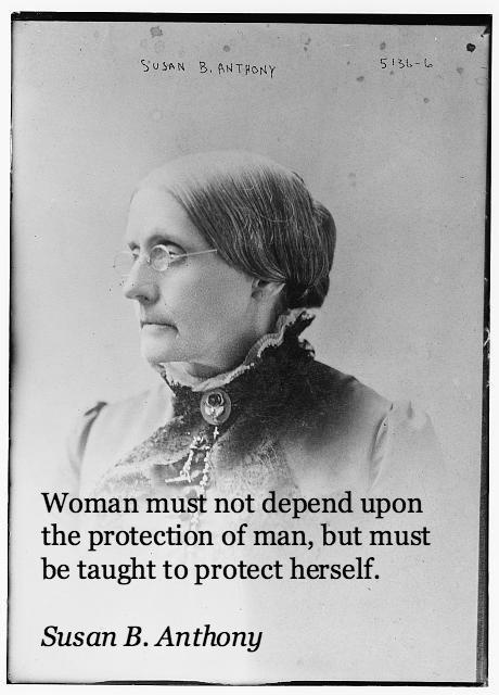 Woman Must Not Depend Upon The Protection Of Man Susan B. Anthony Quotes