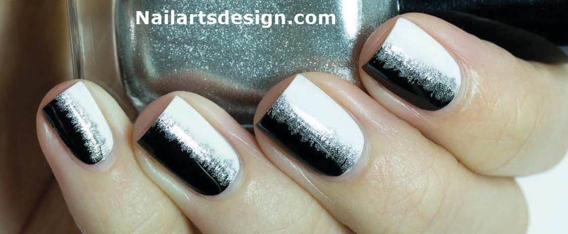 Wonderful Black And White Nails With great Care
