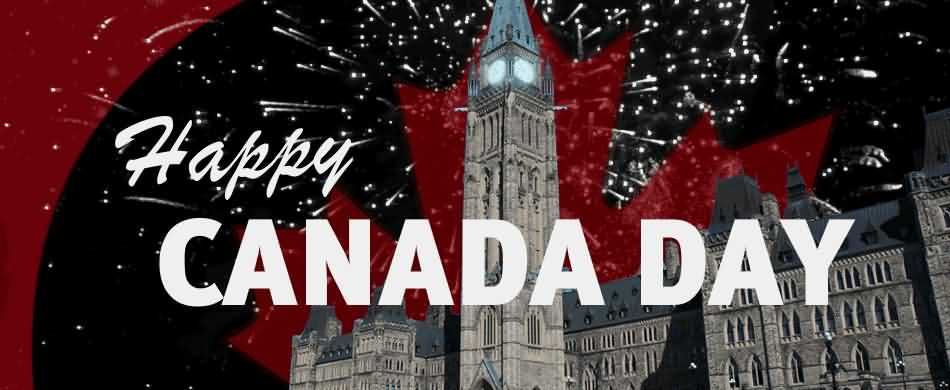 Wonderful Greetings 1st July Happy Canada Day Image