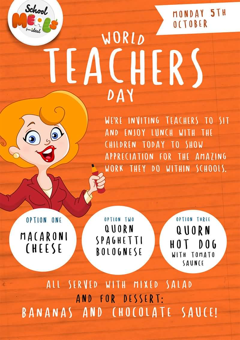 World Teacher's Day Wishes Invitation Image