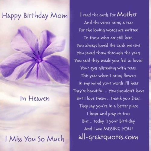 happy birthday mom in heaven i miss you so much...
