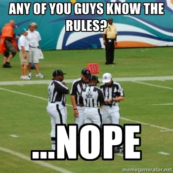 American Football Memes any of you guys know the rules nope