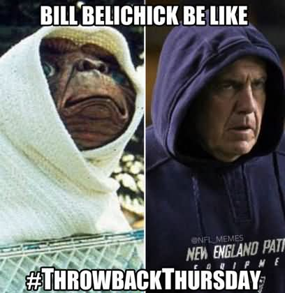 American Football Memes bill belichick be like