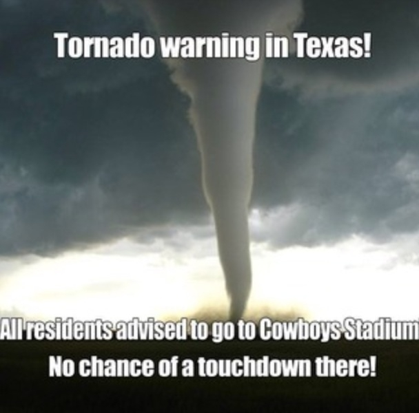 American Football Memes tornado warning in texas all residents advised to go to