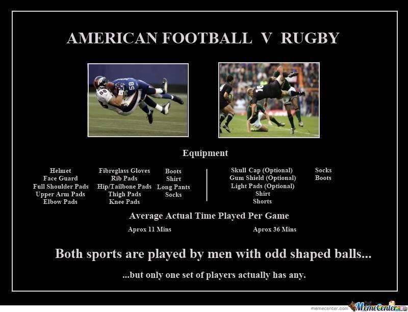 American football v rugby American Football Meme