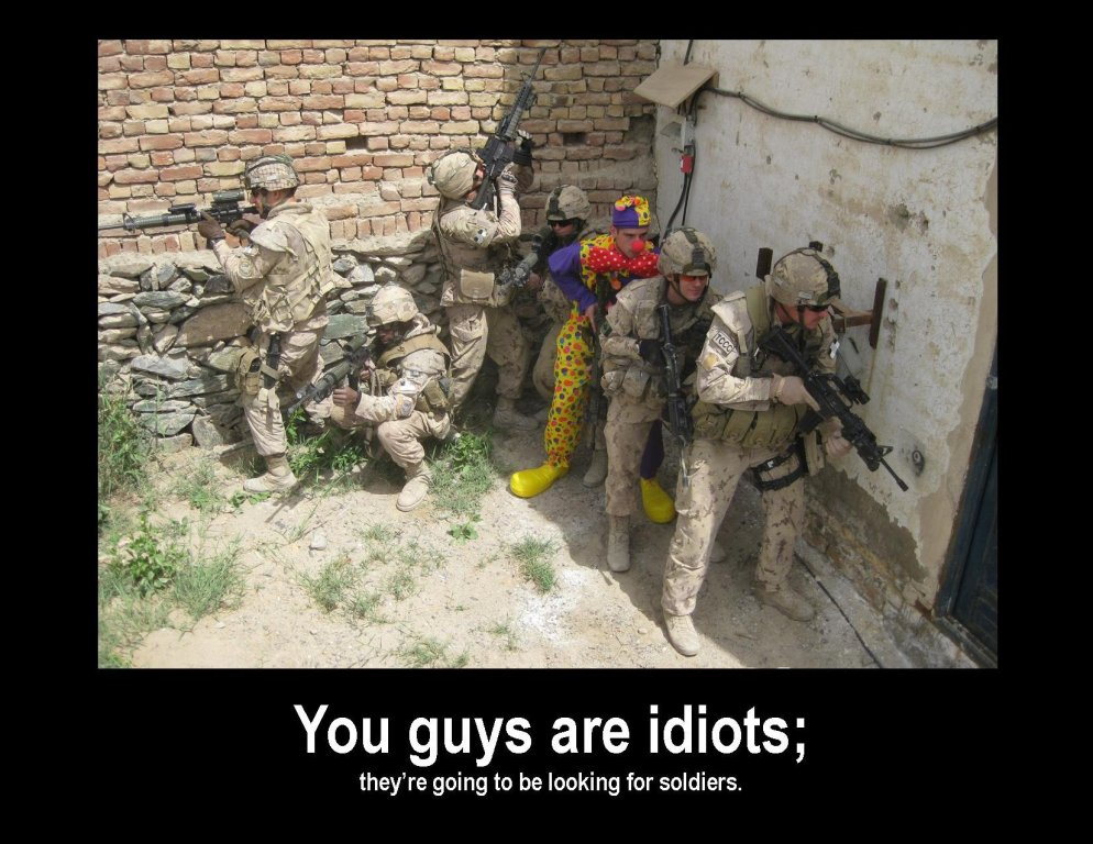 Army Meme you guys are idiots