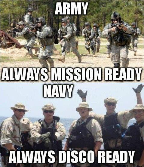 Army always mission ready navy Army Memes