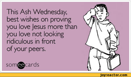 Ash Wednesday Greetings E card