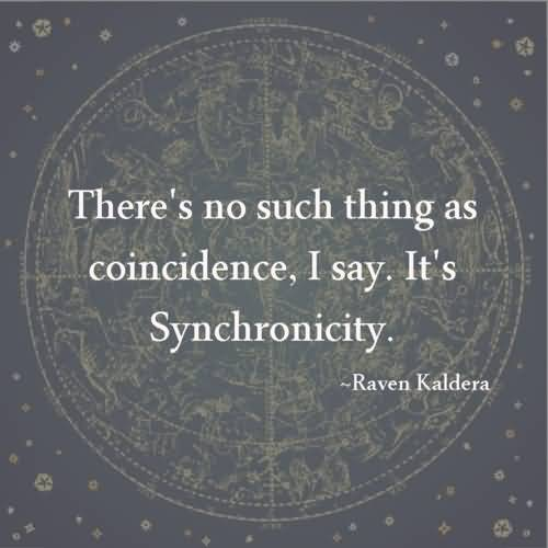 Astrology Quotes there's no such thing as coincidence i say it's synchronicity