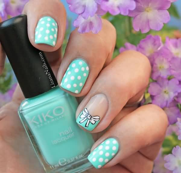 Beautiful Bow Nails With Cute Bow