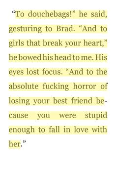 Beautiful Disaster Quotes to douche bags he said