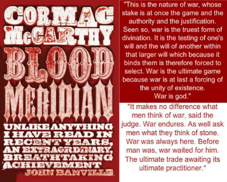 Blood Gang Quotes cormac mc earthy blood meridian