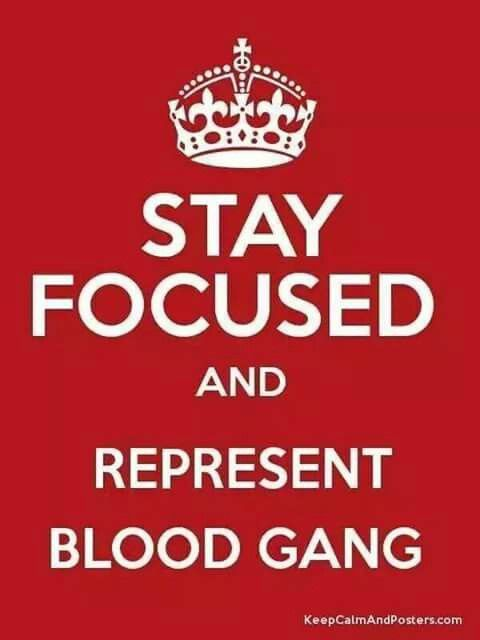 Blood Gang Quotes stay focus and represent blood gang