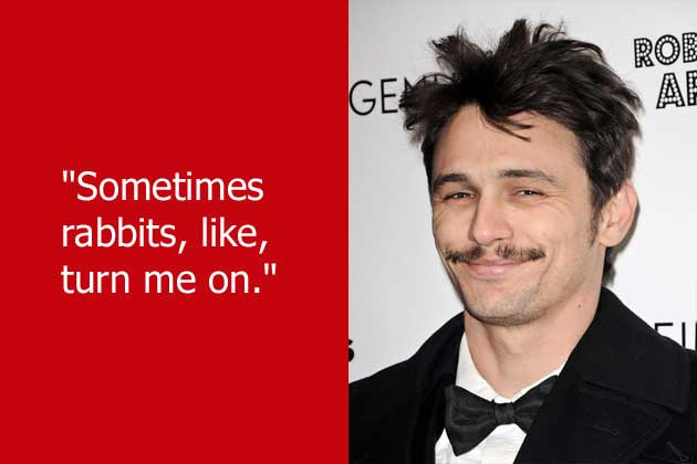 Celebrity sayings sometimes rabbits like term me on