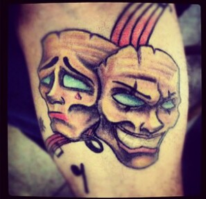 Crazy bipolar tattoos on arm For Boys
