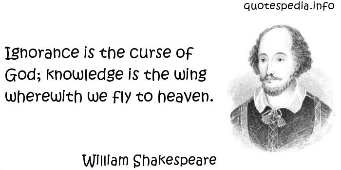 Curse Sayings ignorance is the curse of god