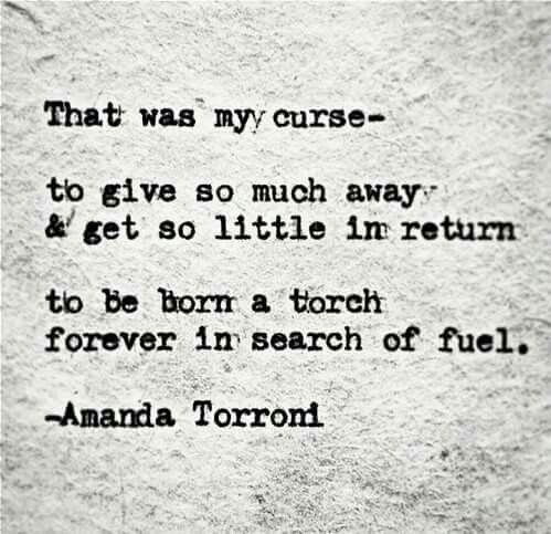 Curse Sayings (that was my curse to give so much away