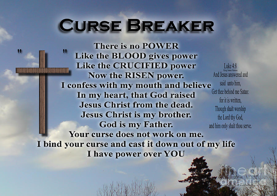 Curse Sayings there is no power like the blood gives power like the crucified power