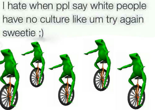 Dat Boi Memes I Hate When Ppl Say White People Have No Culture